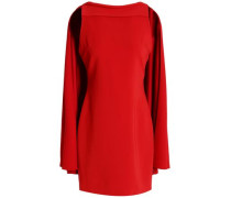 Neely cape-back crepe mini dress