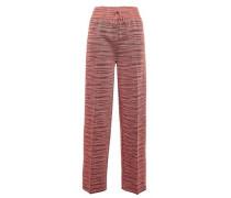 Knitted Straight-leg Pants Brick