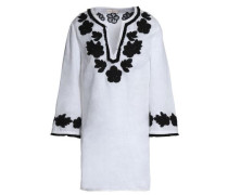 Embroidered linen-gauze tunic