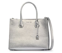Mercer Metallic Pebbled-leather Tote Silver Size --