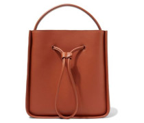 Soleil Small Leather Bucket Bag Tan Size --