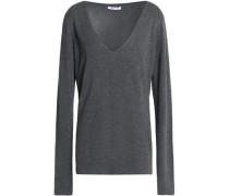 Mélange stretch-knit sweater