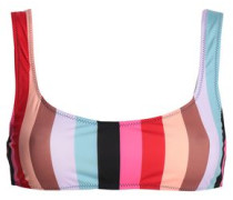 The Elle Striped Bikini Top Multicolor