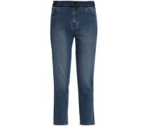 Cropped mid-rise slim-leg jeans