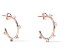 Nomad 18-karat Rose Gold-plated Stone Hoop Earrings Rose Gold Size --