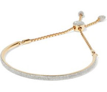 Fiji 18-karat gold-plated sterling silver diamond bracelet