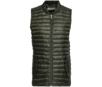 Quilted Shell Down Vest Army Green