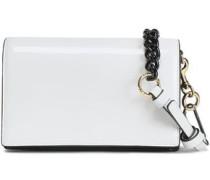 Patent-leather Shoulder Bag White Size --