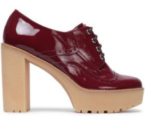 Woman Patent-leather Platform Brogues Burgundy