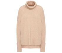 Wool-blend Turtleneck Sweater Sand
