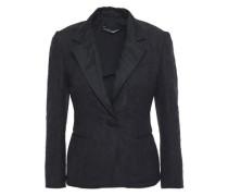 Organza-trimmed Embbosed Jacquard Blazer Black