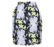 Floral-print Silk-blend Cloqué Mini Skirt Midnight Blue
