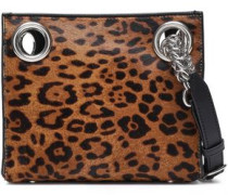 Calf Hair And Leather-paneled Shoulder Bag Animal Print Size --
