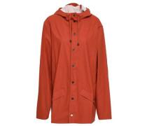 Coated Shell Hooded Raincoat Brick  /S