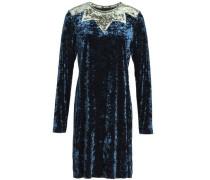 Two-tone crushed velvet mini dress