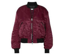 Ruched shell bomber jacket