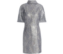 Metallic corded lace dress