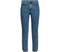 Cropped Mid-rise Skinny Jeans Mid Denim  9