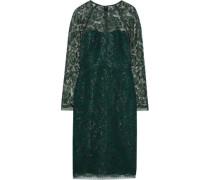 Metallic Lace Dress Forest Green