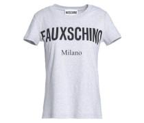 Mélange printed cotton-jersey T-shirt