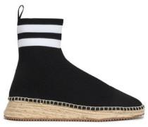 Dylan Stretch-knit Sock Boots Black