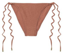 Cairo Printed Low-rise Bikini Briefs Brown