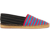 Sienna striped canvas espadrilles