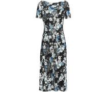 Floral-print Ponte Dress Black