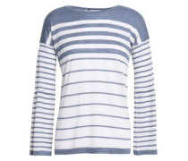 Striped Cashmere Top Ivory
