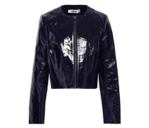 Patent-leather Jacket Midnight Blue