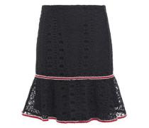 Woman Richard Fluted Guipure Lace Mini Skirt Black
