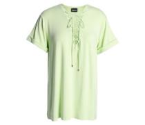 Lace-up stretch-jersey T-shirt