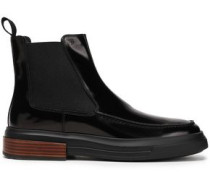 Glossed-leather Ankle Boots Black