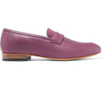 Penny Leather Loafers Grape