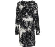 Printed Silk Crepe De Chine Mini Dress Black Size 0