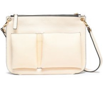 Woman Textured-leather Shoulder Bag Cream