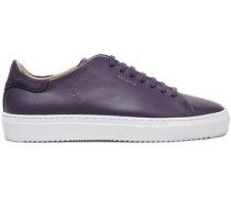 Woman Suede-trimmed Leather Sneakers Violet