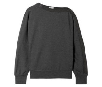 Woman Embellished Cotton-blend Jersey Sweatshirt Anthracite