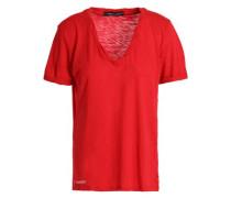 Slub cotton-blend jersey T-shirt