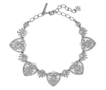 Woman Silver-tone, Crystal And Faux Pearl Necklace Silver