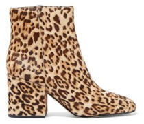 Taye leopard-print calf-hair ankle boots