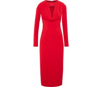 Cutout Jersey Midi Dress Red