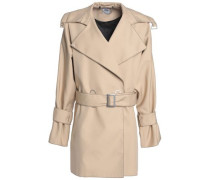 Belted woven jacket