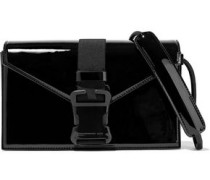 Devine Buckled Patent-leather Shoulder Bag Black Size --