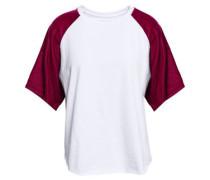 Velvet-paneled Cotton-jersey T-shirt White Size 1