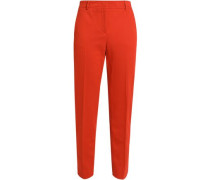 Twill tapered pants