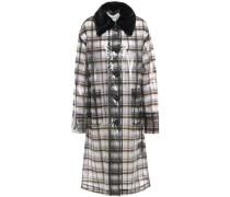 Woman Debbie Faux Fur-trimmed Printed Pvc Raincoat Black