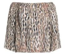 Leopard-print crepe top