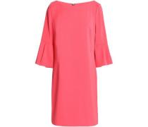 Pleated crepe mini dress