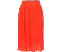 Sakurako Pleated Georgette Skirt Bright Orange